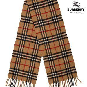 Burberry Nova Check Cashmere & Wool Scarf